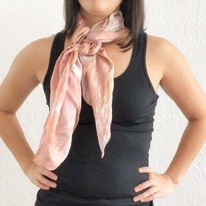 100% Silk Scarf Gorgeous Pink Watercolor Print